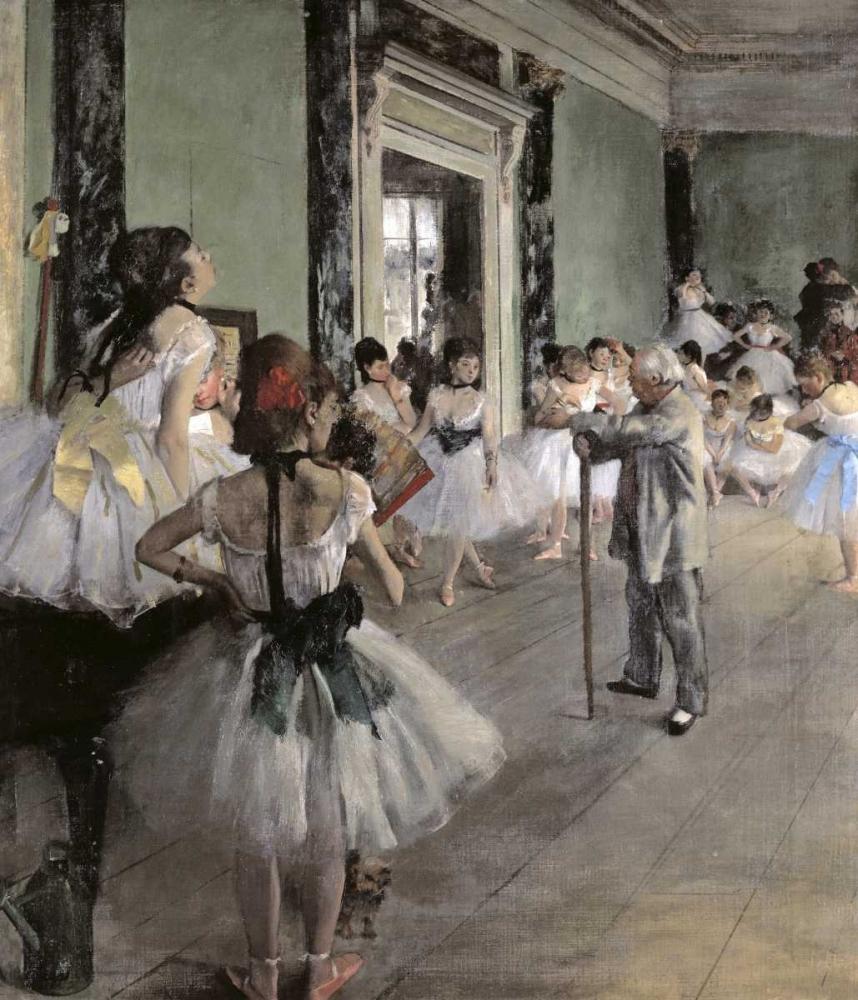 konfigurieren des Kunstdrucks in Wunschgröße Dance Class von Degas, Edgar