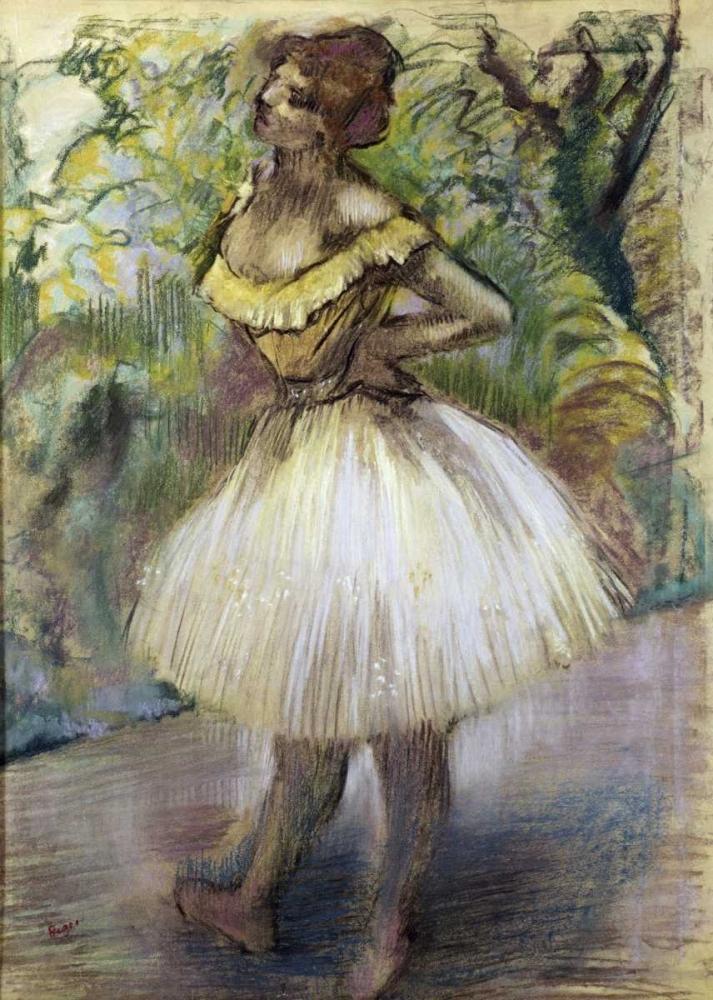 konfigurieren des Kunstdrucks in Wunschgröße Dancer In Yellow von Degas, Edgar