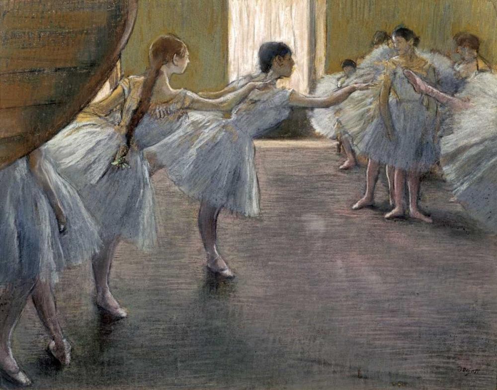 Dancers at the Rehearsal von Degas, Edgar <br> max. 102 x 79cm <br> Preis: ab 10€