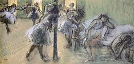 konfigurieren des Kunstdrucks in Wunschgröße Dancers in Rehearsal (II) von Degas, Edgar