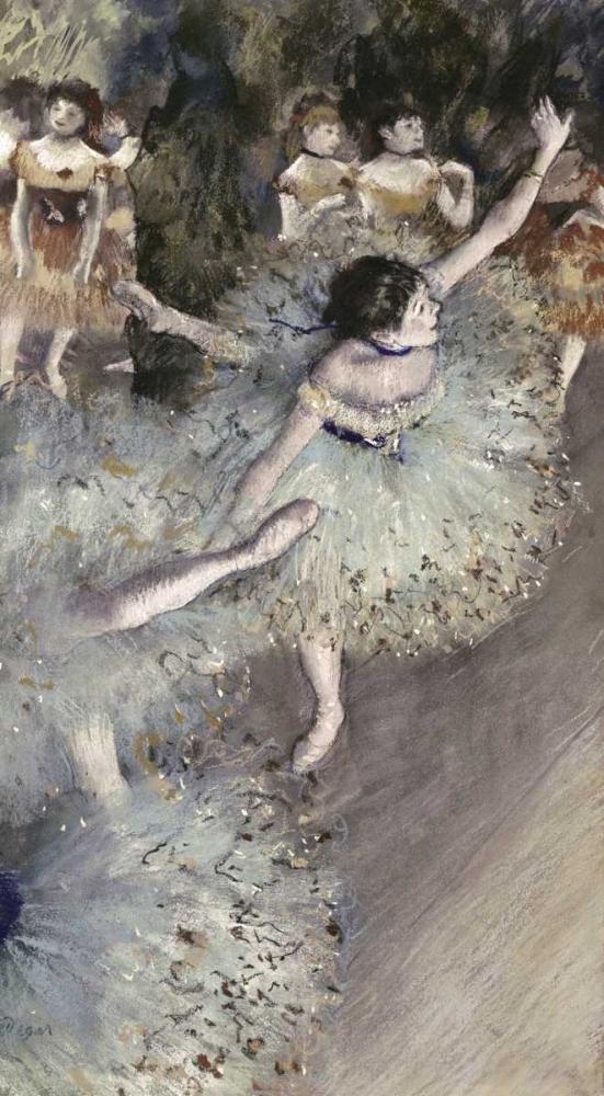 konfigurieren des Kunstdrucks in Wunschgröße Danseuse Basculant - Danseuse Verte von Degas, Edgar