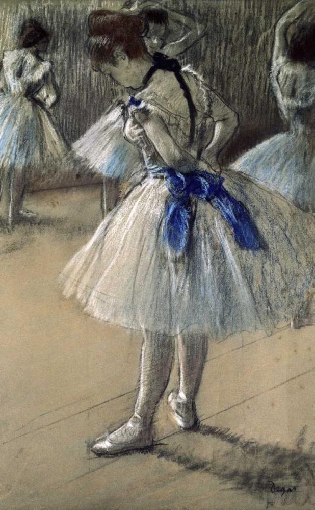 konfigurieren des Kunstdrucks in Wunschgröße Danseuse, Dancer, Pastel/Char/Chalk von Degas, Edgar