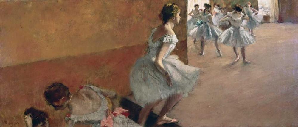konfigurieren des Kunstdrucks in Wunschgröße Danseuses montant un escalier, 1886-1890 von Degas, Edgar