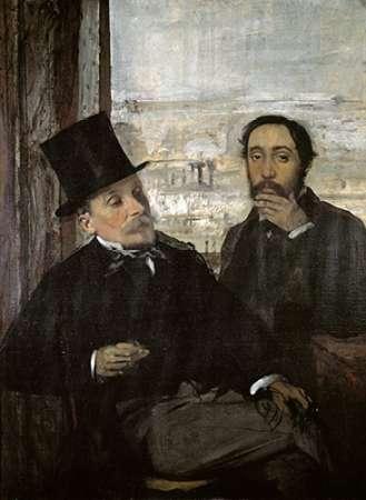 konfigurieren des Kunstdrucks in Wunschgröße Degas and Evariste De Valernes von Degas, Edgar