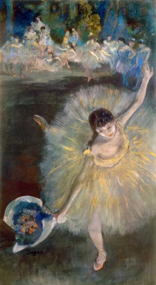 konfigurieren des Kunstdrucks in Wunschgröße End of the Arabesque, c. 1877 von Degas, Edgar