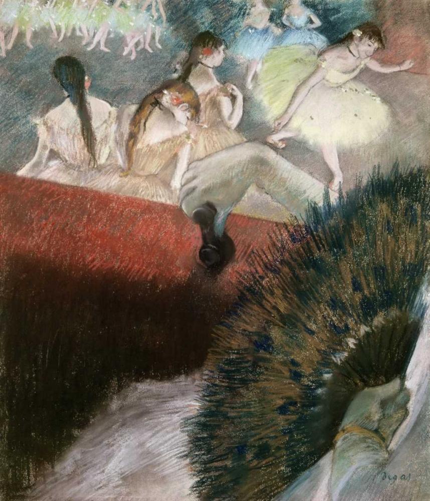 konfigurieren des Kunstdrucks in Wunschgröße In the Theatre von Degas, Edgar