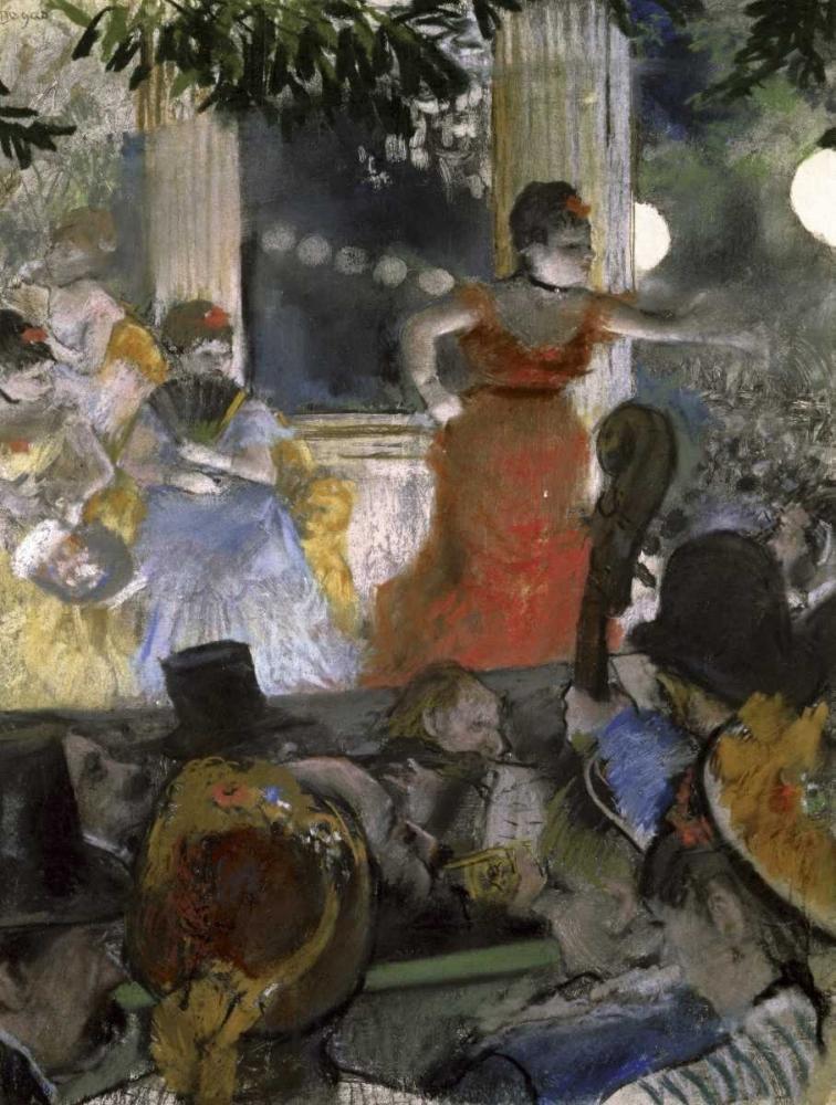 konfigurieren des Kunstdrucks in Wunschgröße Le Cafe Concert Des Ambassadeurs von Degas, Edgar