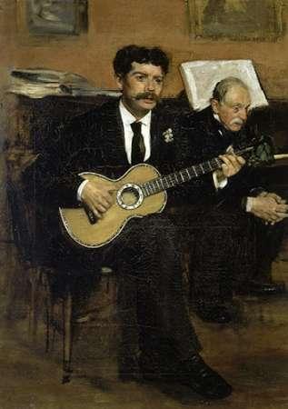 konfigurieren des Kunstdrucks in Wunschgröße Lorenzo Pagans and Auguste De Gas von Degas, Edgar