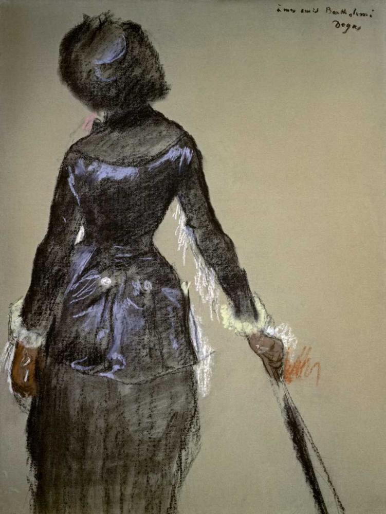 konfigurieren des Kunstdrucks in Wunschgröße Mary Cassatt at the Louvre von Degas, Edgar