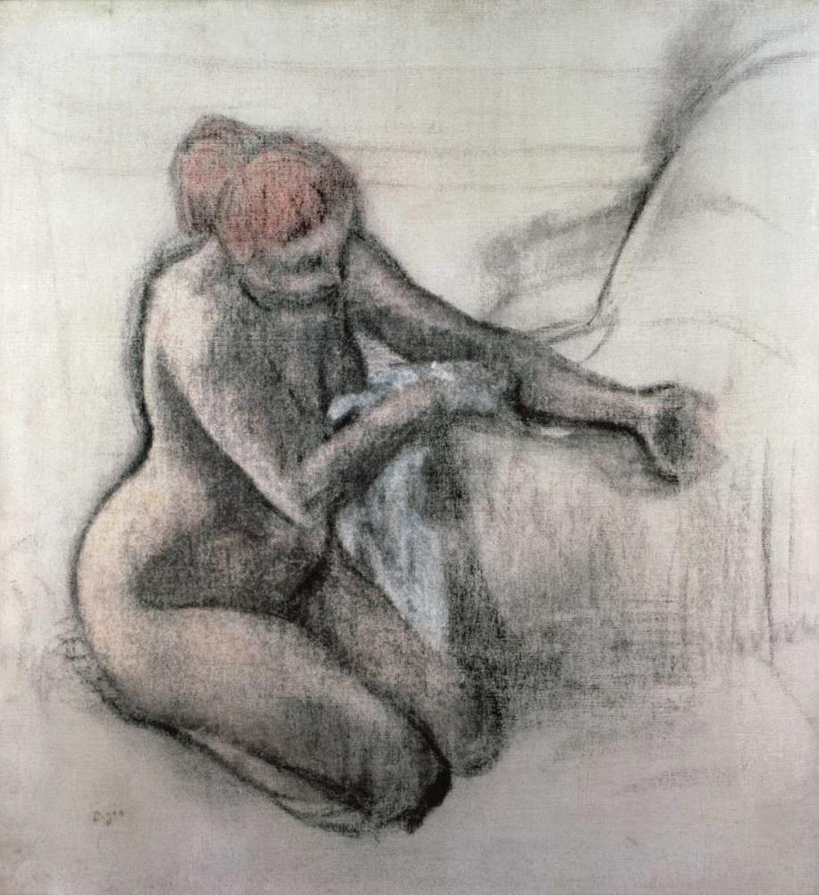 konfigurieren des Kunstdrucks in Wunschgröße Nude Woman Drying Herself After The Bath von Degas, Edgar
