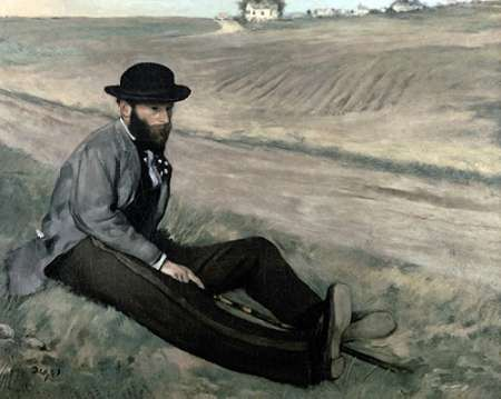 konfigurieren des Kunstdrucks in Wunschgröße Portrait of Eugene Manet von Degas, Edgar
