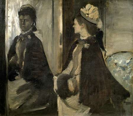 konfigurieren des Kunstdrucks in Wunschgröße Portrait of Mrs. Jeantaud In The Mirror von Degas, Edgar