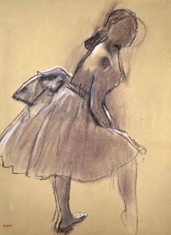 konfigurieren des Kunstdrucks in Wunschgröße Profile of a Dancer Upright von Degas, Edgar