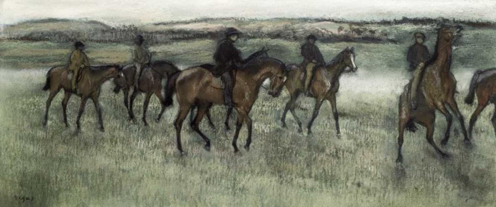Race Horses von Degas, Edgar <br> max. 145 x 61cm <br> Preis: ab 10€