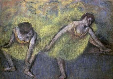 konfigurieren des Kunstdrucks in Wunschgröße Two Dancers at Rest von Degas, Edgar