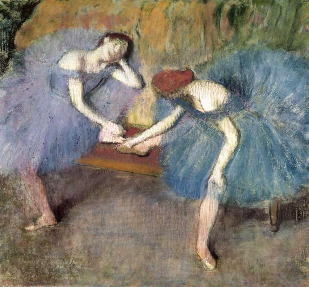konfigurieren des Kunstdrucks in Wunschgröße Two Dancers Resting, c. 1905-1910 von Degas, Edgar