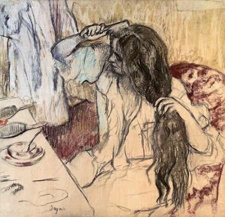 konfigurieren des Kunstdrucks in Wunschgröße Woman at her Toilette von Degas, Edgar