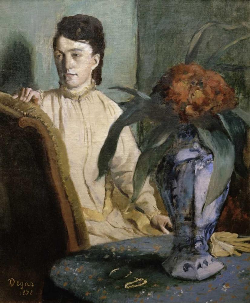 konfigurieren des Kunstdrucks in Wunschgröße Woman with Porcelain Vase von Degas, Edgar