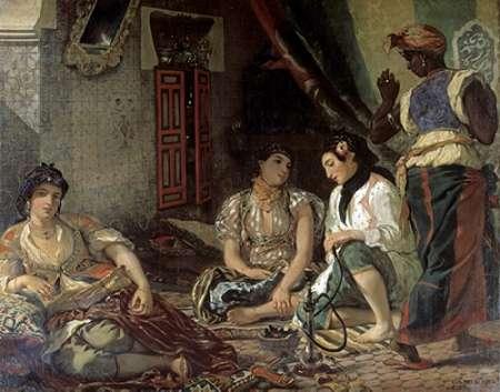konfigurieren des Kunstdrucks in Wunschgröße Algerian Women In Their Apartment von Delacroix, Eugene