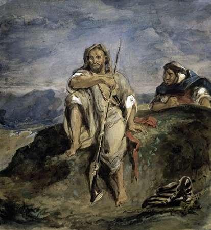 konfigurieren des Kunstdrucks in Wunschgröße Arab Hunter von Delacroix, Eugene