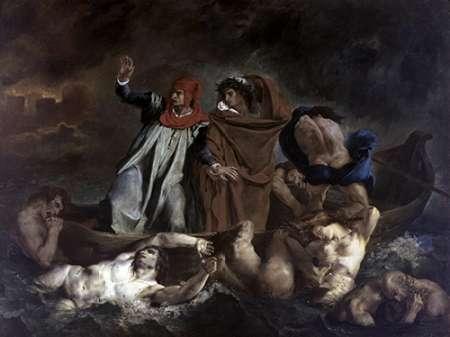 konfigurieren des Kunstdrucks in Wunschgröße Dante and Virgil in Hell von Delacroix, Eugene