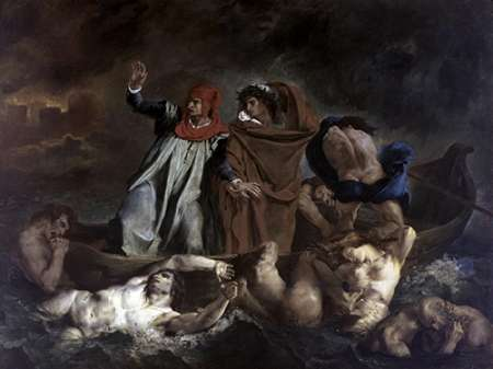 Dante and Virgil in Hell von Delacroix, Eugene <br> max. 102 x 76cm <br> Preis: ab 10€