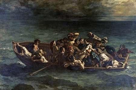 Don Juans Shipwreck Naufrage de Don Juan von Delacroix, Eugene <br> max. 107 x 71cm <br> Preis: ab 10€