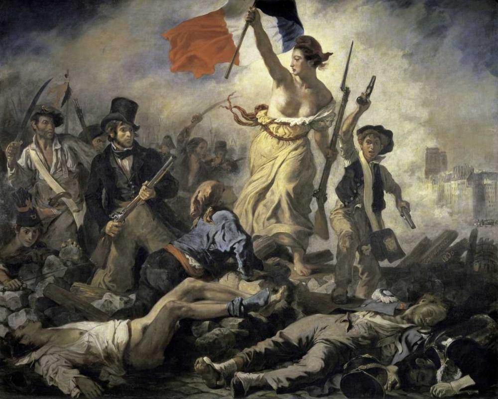 konfigurieren des Kunstdrucks in Wunschgröße Liberty Leading the People von Delacroix, Eugene