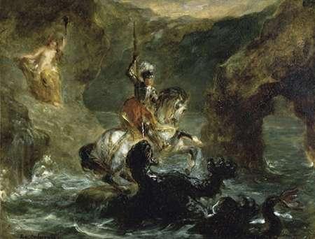 konfigurieren des Kunstdrucks in Wunschgröße St. George Fighting the Dragon von Delacroix, Eugene