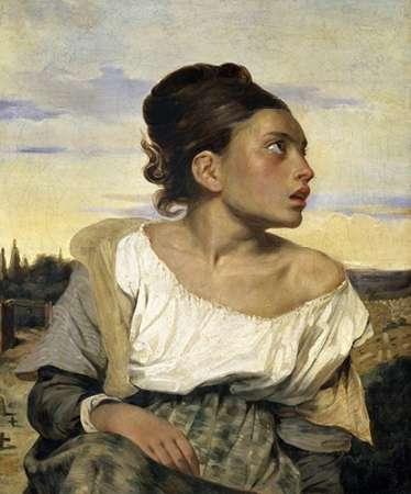 konfigurieren des Kunstdrucks in Wunschgröße Young Orphan in the Cemetery von Delacroix, Eugene