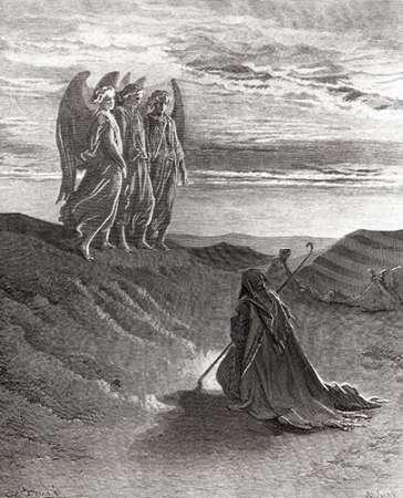 konfigurieren des Kunstdrucks in Wunschgröße The Lord Appearing Before Abraham von Dore, Gustave