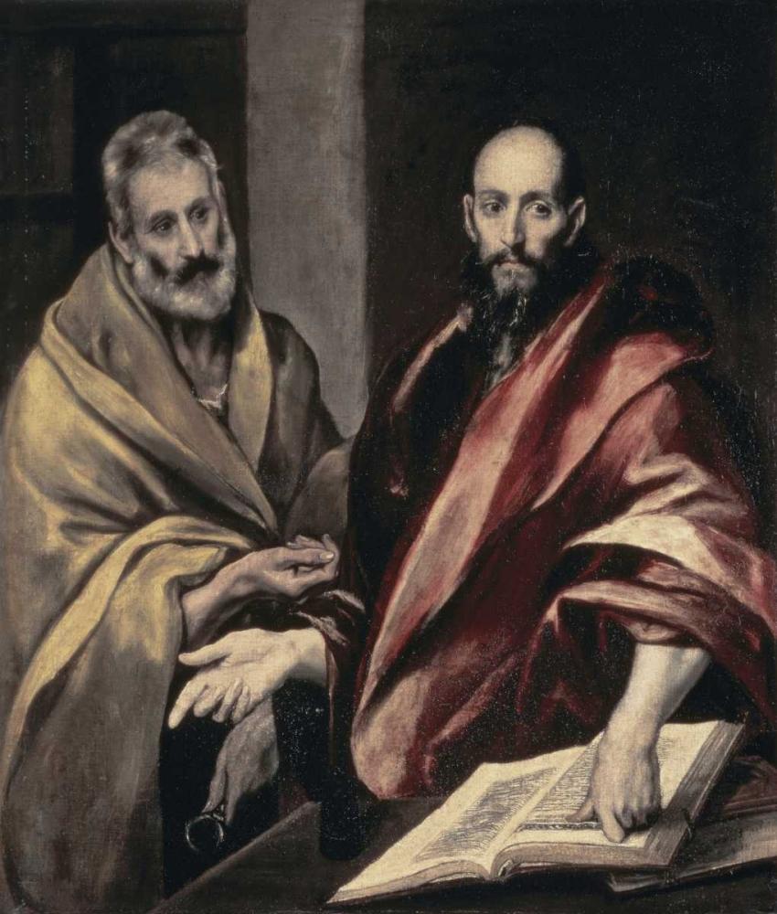 konfigurieren des Kunstdrucks in Wunschgröße Apostles St. Peter and St. Paul von El Greco