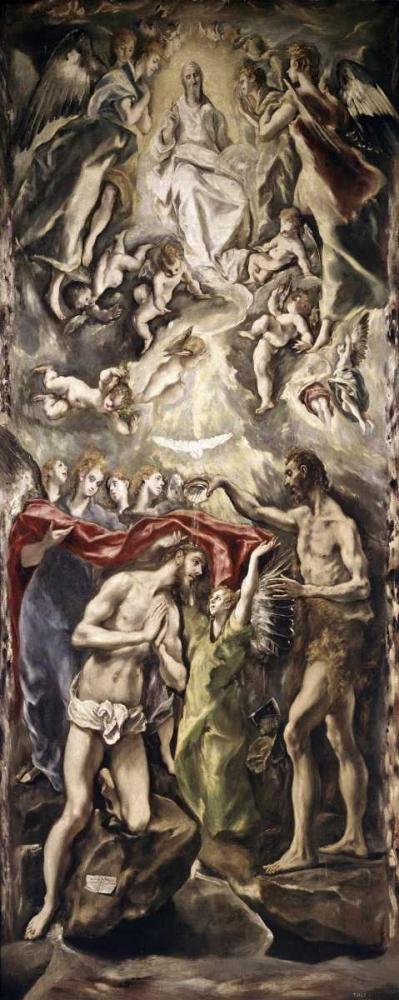konfigurieren des Kunstdrucks in Wunschgröße Baptism of Christ von El Greco