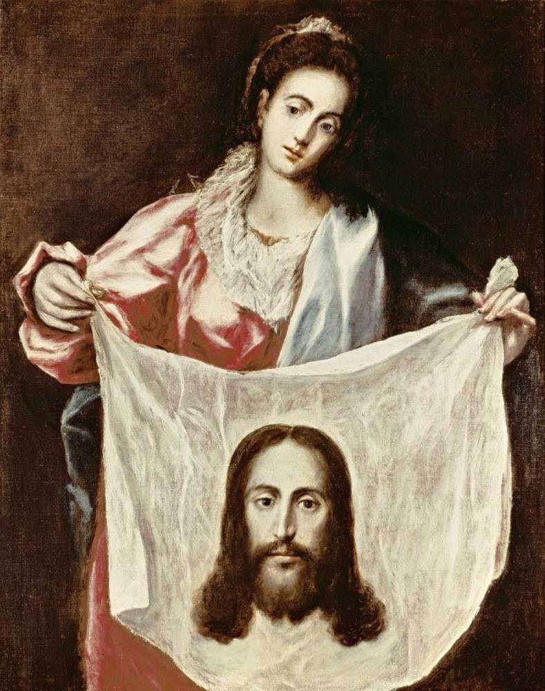 konfigurieren des Kunstdrucks in Wunschgröße Veronica and The Holy Veil von El Greco