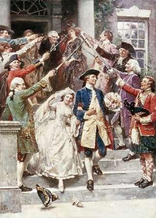 konfigurieren des Kunstdrucks in Wunschgröße Here Comes The Bride, Wedding of Washington von Gerome Ferris, Jean Leon
