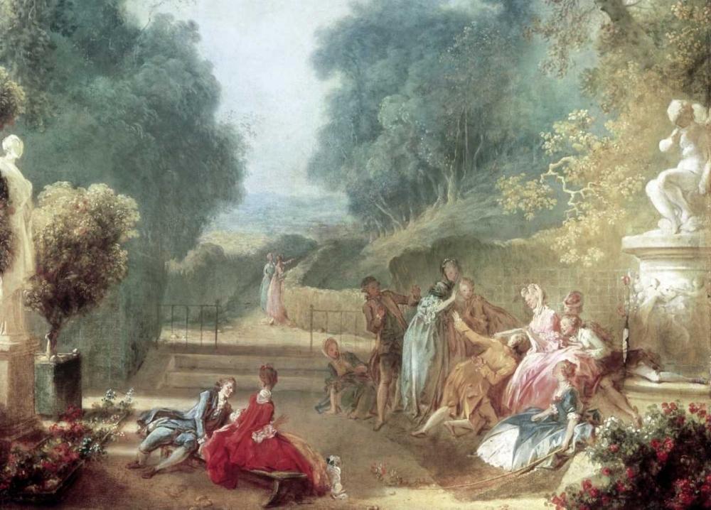 konfigurieren des Kunstdrucks in Wunschgröße A Game of Hot Cockles von Fragonard, Jean Honore