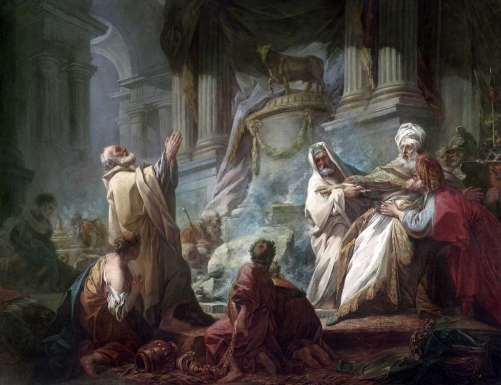 konfigurieren des Kunstdrucks in Wunschgröße Jeroboam Sacrificing To The Idols von Fragonard, Jean Honore