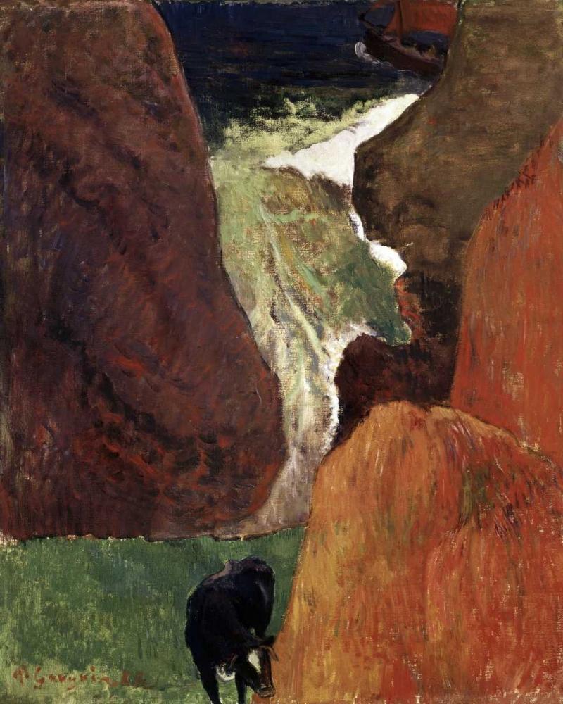 konfigurieren des Kunstdrucks in Wunschgröße Above the Abyss Au Dessus du Gouffre von Gauguin, Paul