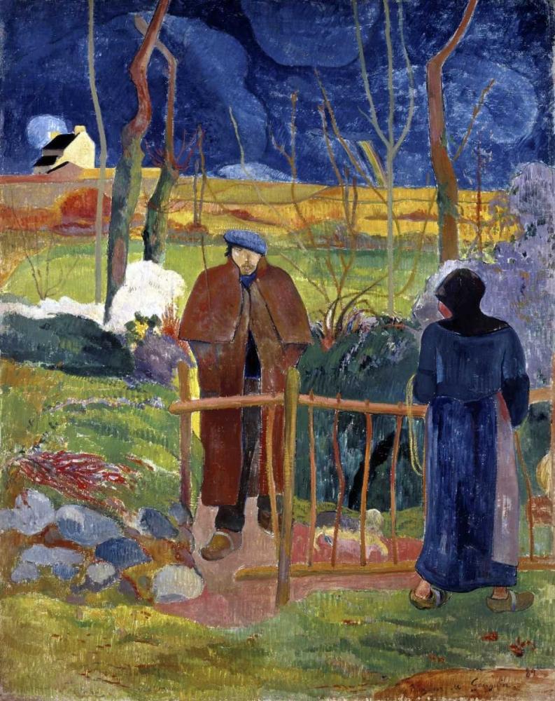 konfigurieren des Kunstdrucks in Wunschgröße Bonjour, Monsieur Gauguin von Gauguin, Paul