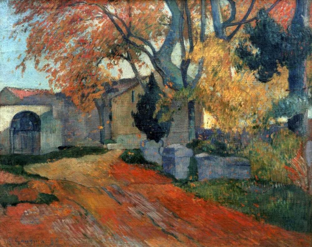 konfigurieren des Kunstdrucks in Wunschgröße LAllee des Alyscalps Arles von Gauguin, Paul