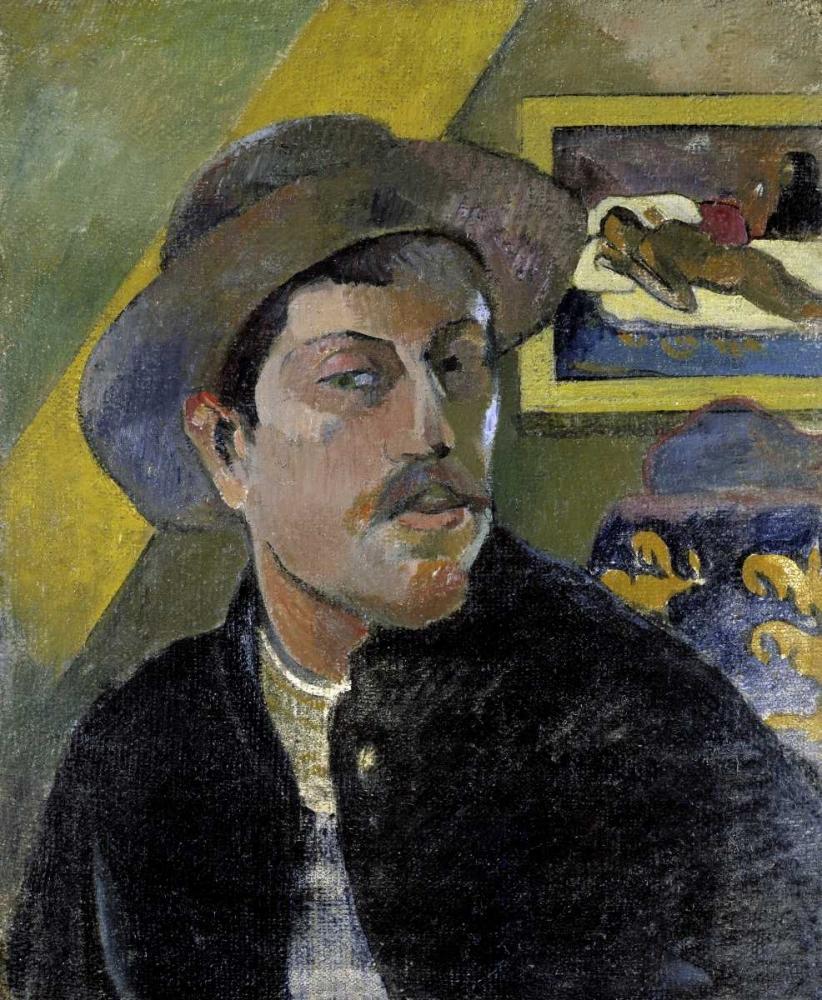 Portrait of the Artist, - Portrait de lArtiste - i von Gauguin, Paul <br> max. 81 x 97cm <br> Preis: ab 10€