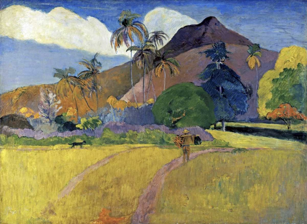 Tahitian Landscape with a Mountain von Gauguin, Paul <br> max. 107 x 79cm <br> Preis: ab 10€