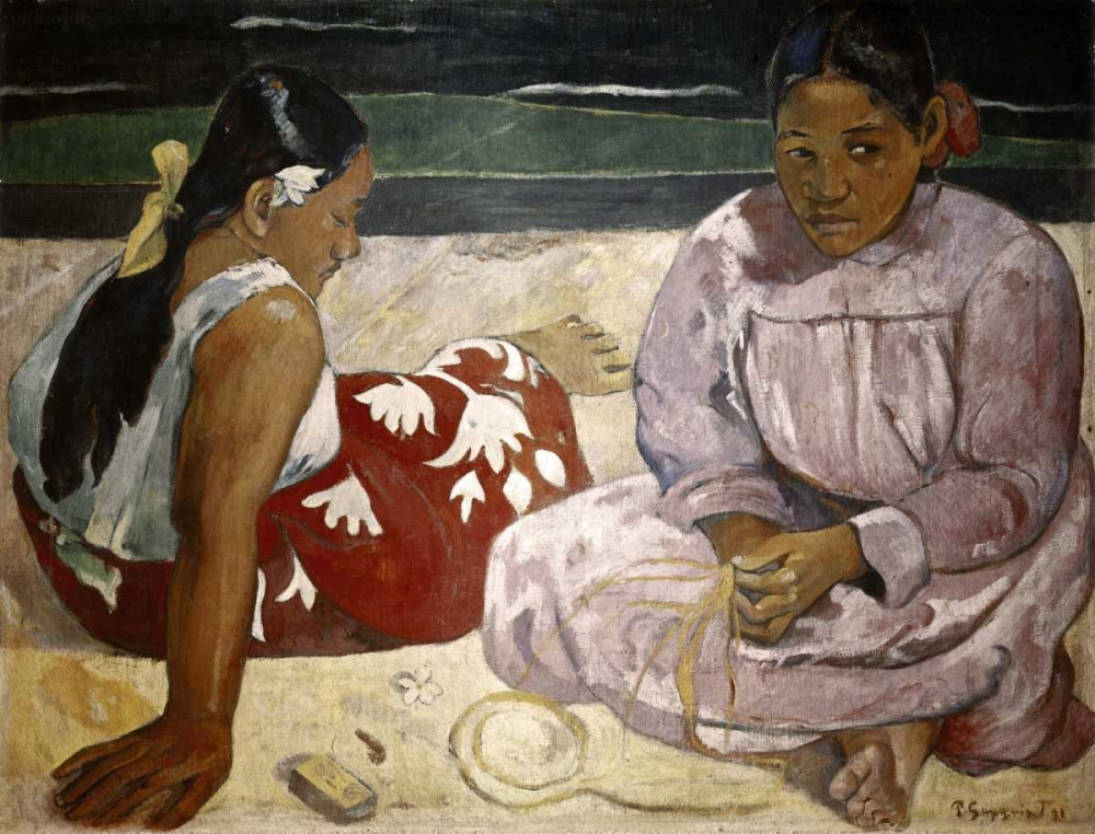 Tahitian Women - On The Beach von Gauguin, Paul <br> max. 104 x 79cm <br> Preis: ab 10€