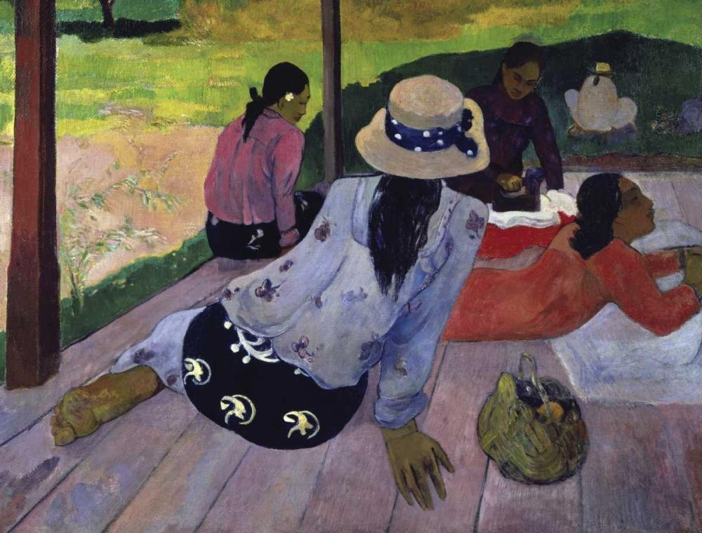 konfigurieren des Kunstdrucks in Wunschgröße The Nap - La Siesta von Gauguin, Paul