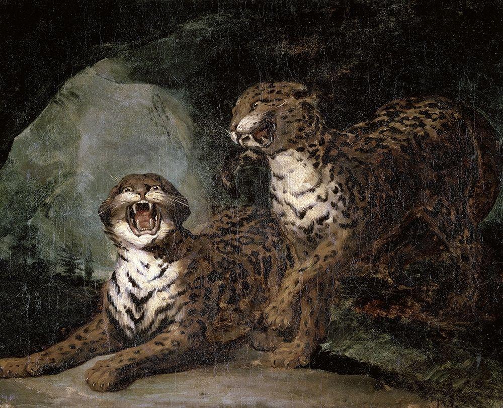konfigurieren des Kunstdrucks in Wunschgröße Two Leopards von Gericault, Theodore