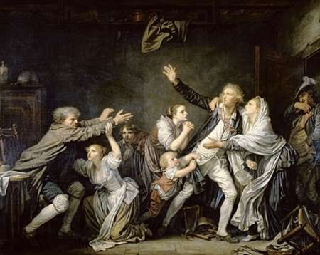 konfigurieren des Kunstdrucks in Wunschgröße Paternal Curse Or Ungrateful Son von Greuze, Jean Baptiste