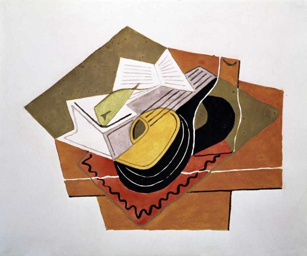 konfigurieren des Kunstdrucks in Wunschgröße Still Life With a Guitar von Gris, Juan