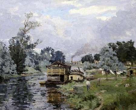 konfigurieren des Kunstdrucks in Wunschgröße River Landscape von Guillaumin, Armand