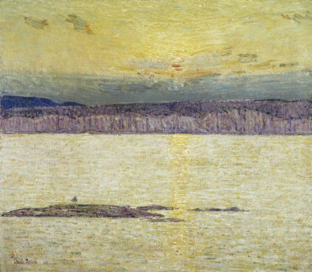 konfigurieren des Kunstdrucks in Wunschgröße Sunset Ironbound Island: Mount Desert, Maine von Hassam, Childe