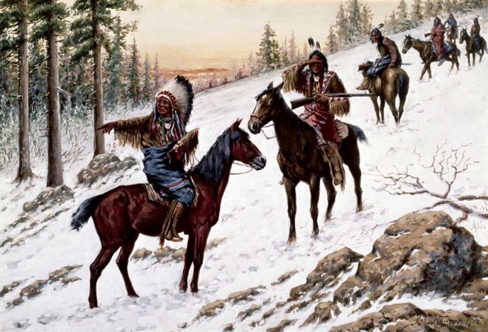 konfigurieren des Kunstdrucks in Wunschgröße Indians On The Trail von Einzelbilder